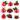 Premium Vector: Cute ladybug icons